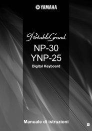 NP-30/YNP-25 Manuale di istruzioni - Scavino