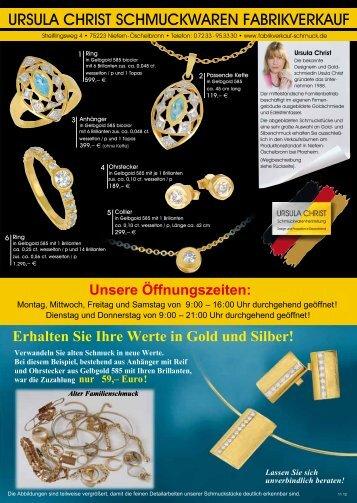 ursula christ schmuckwaren fabrikverkauf URSULA CH