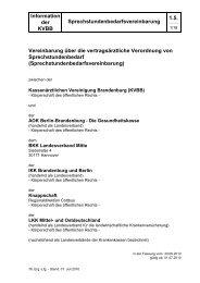 Sprechstundenbedarfsvereinbarung - Kassenärztliche Vereinigung ...