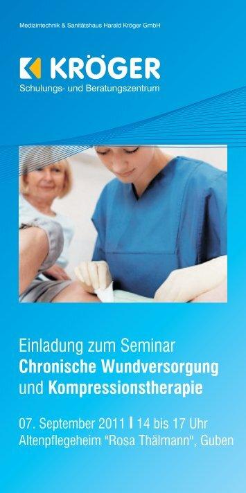 Einladung zum Seminar und Chronische Wundversorgung ...
