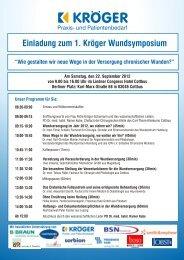 Einladung zum 1. Kröger Wundsymposium - Medizintechnik ...