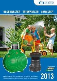RegenwasseR - TRinkwasseR - abwasseR - Schütter Behältercenter