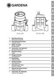 OM, Gardena, Bewässerungsventil, Art 01278-20, Art 01251-20 ...