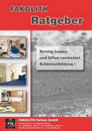 Richtig lüfen (Fakolith) - Farben Klein GmbH
