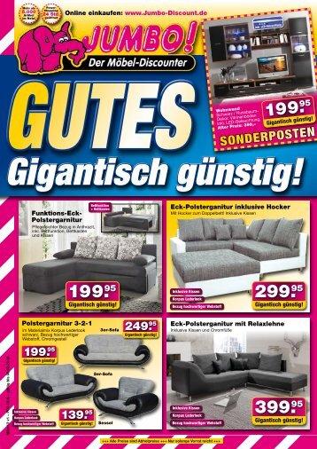 Aktuelle wohntrends jetzt gigantisch g nstig bei prima m bel in 07356 bad lobenstein - Jumbo mobel discounter ...