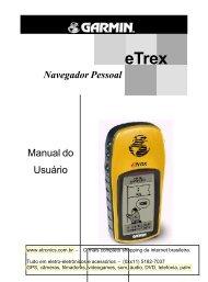 Manual em portugues do gps garmin eTrex - Etronics
