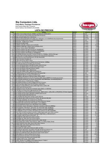 Lista de Precios (PDF) - Bip