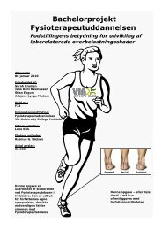 Læs hele projektet - Danske Fysioterapeuter