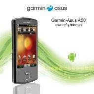A50 Garmin-Asus Owner's Manual