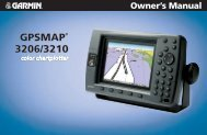 GPSMAP 3206/3210 Owner's Manual - GPS Central