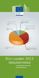 EU:n vuoden 2013 talousarviossa