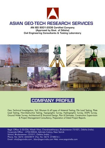 company profile asian geo-tech research services - AGRS India