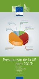 Presupuesto de la UE para 2013: