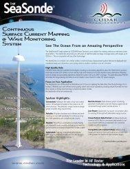 SeaSonde_Catalog_200.. - CODAR Ocean Sensors