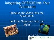 Integrating GPS/GIS Into Your Curriculum - Half Hollow Hills