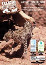 Status of the Arabian leopard Panthera pardus nimr - Biosphere ...