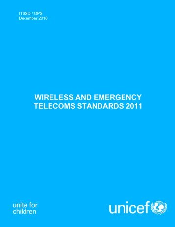 ITSS Wireless and Emergency Telecoms Standards, UNICEF, 2011