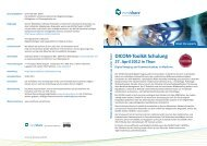 DICOM-Toolkit Schulung 27. April 2012 in Thun - medshare