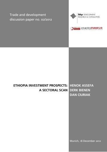 Trade and development discussion paper no. 02/2012 ETHIOPIA ...