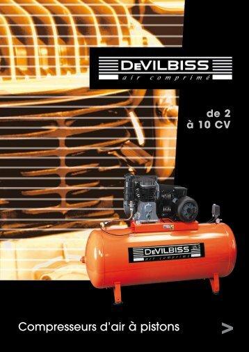 Compresseurs d'air à pistons - Devilbiss