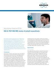 Application Note # ET-25 ESI-Q-TOF MS/MS study of poly(2 ... - Bruker