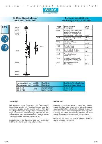 S8-O E-Öffner-Kombinationen nach EN 179 und 1125 E ... - Market