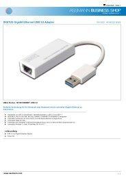 DIGITUS Gigabit Ethernet USB 3.0 Adapter