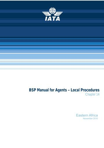 BSP Manual for Agents – Local Procedures - IATA