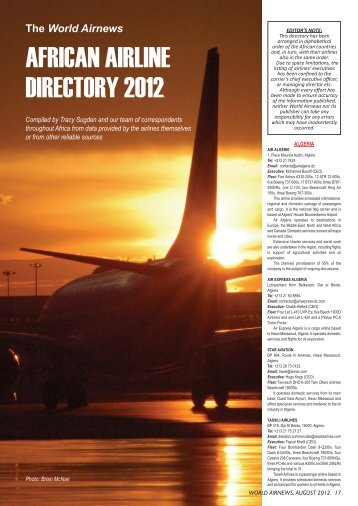 AIRLINE DIRECTORY to work from in 2012_Layout 1 - World Airnews