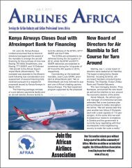 Serving the Airline Industry and Airline Professional ... - Airlines Africa