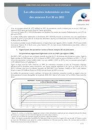 Les allocataires indemnisés au titre des annexes 8 et 10 en 2011