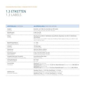 Standardspezifikation Haftetiketten - August Faller KG