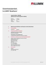 Sicherheitsdatenblatt. ILLUMIN® Bioethanol - RESOLVE