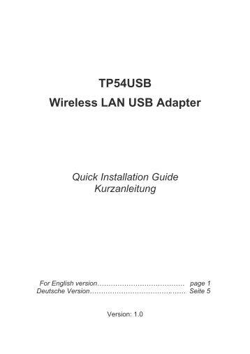 TP54USB Wireless LAN USB Adapter - Digitus