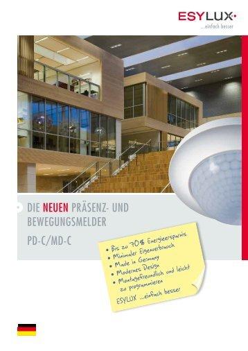 Die neuen Präsenz- unD BewegungsmelDer PD-C/mD-C - Sonepar