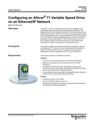 Configuring an Altivar 71 Variable Speed Drive on an Ethernet/IP ...