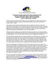 SAA Press Release 2009 - Tanzania Tourist Board
