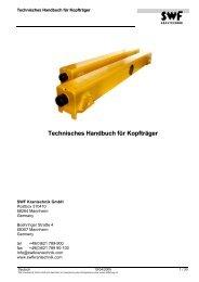 Tech. Handbuch Kopfträger ES, ET - SWF Krantechnik GmbH