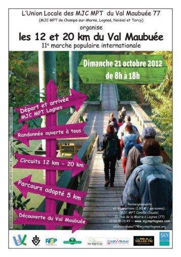 Les 12 et 20 km du Val Maubuée 2012 - Agglomération de Marne-la ...