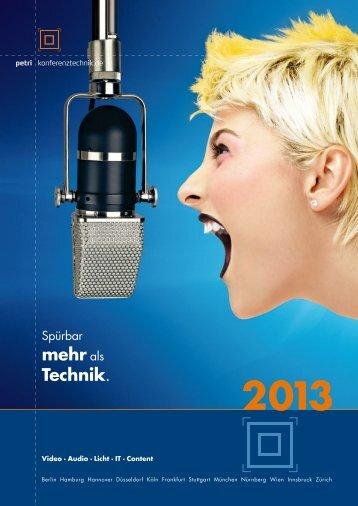 Katalog 2013 (pdf) - PETRI Konferenz
