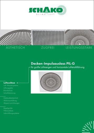 Decken-Impulsauslass PIL-G - Schako