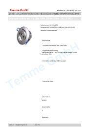 Deckenleuchte mit 3 LEDs 10W 2700K 50kh (DLL-310C)