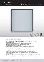 Lucid RCL | Deckenleuchte 600/600 - LEIDS GmbH & Co. KG