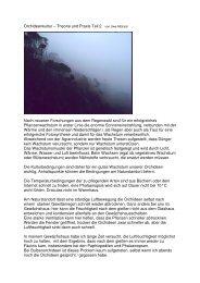 Orchideenkultur – Theorie und Praxis Teil 2 von Uwe Mittrach Nach ...
