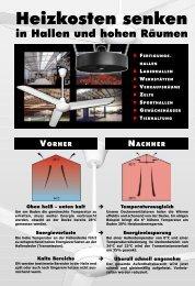 Industrie-Deckenventilatoren Prospekt