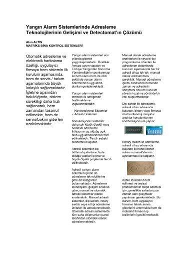 Adresleme Teknolojileri - Matriks Bina Kontrol Sistemleri