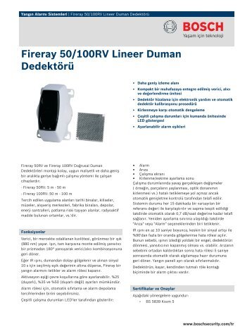 Fireray 50/100RV Lineer Duman Dedektörü - Bosch Security Systems