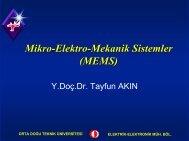 Mikro-Elektro-Mekanik Sistemler (MEMS)