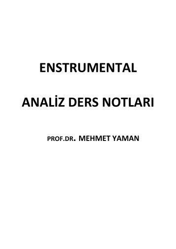 enstrumental analiz ders notları - Kimya