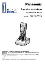 KX-NCP1000 Feature Guide - Panasonic